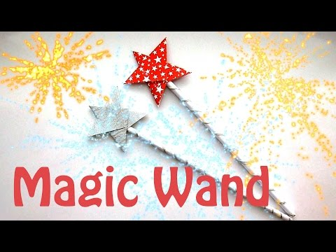 How to make a magic Wand (Origami magic Wand)? Christmas Crafts