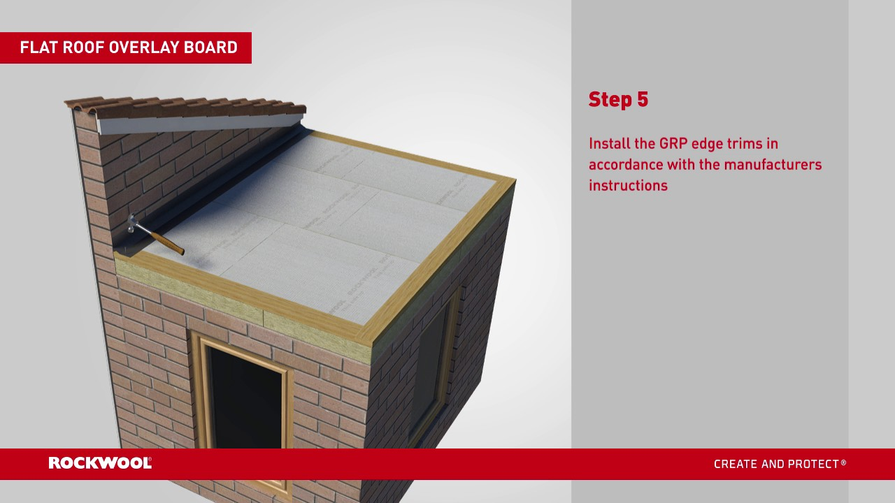 Flat Roof Overlay Board Grp Installation Guide Youtube
