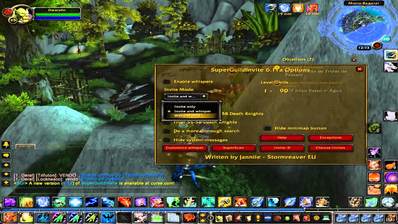Utilizando O Addon Super Guild Invite Sgi Youtube