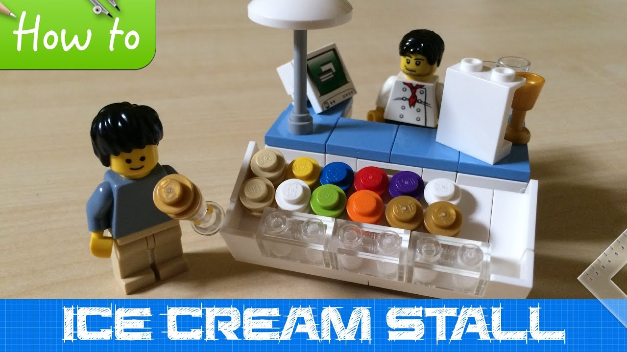 How To Make A Small LEGO Ice Cream Stall  MOC  Basic    YouTube How To Make A Small LEGO Ice Cream Stall  MOC  Basic
