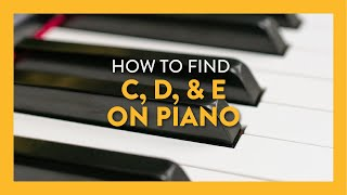 Finding C, D & E on the Piano - Piano Lesson 4 - Hoffman Academy