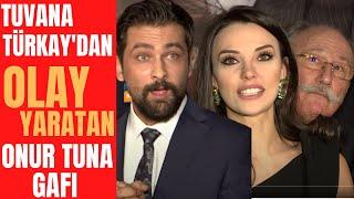 "Tuvana Türkay ""Ağır Romantik"" Film Galasında Onur Tuna ile Dalga Geçti"
