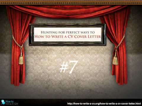 How To Write A Cv Cover Letter