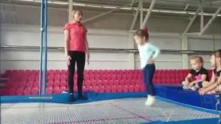 Прыжки на батуте. Секция детской гимнастики в Барановичах.