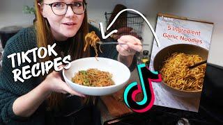 recreating vegetarian tiktok recipes  you NEED to make these!