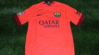 4deca1ab6 Nike Barcelona 2014-2015 Away Jersey Review