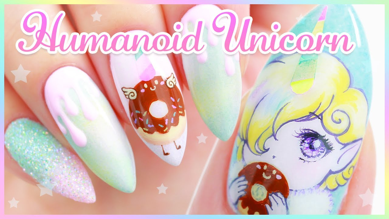 original character nail art unicorns youtube. Black Bedroom Furniture Sets. Home Design Ideas