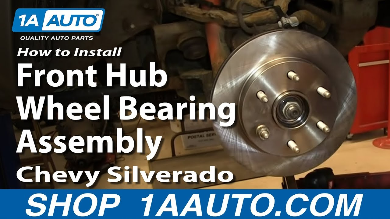 How To Install Front Hub Wheel Bearing Assembly 200006 Chevy Silverado Suburban GMC Sierra