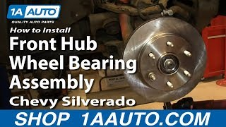 How To Install Front Hub Wheel Bearing Assembly 2000-06 Chevy Silverado Suburban GMC Sierra Yukon
