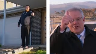 video: Watch: Australian Prime Minister told to get off a man's lawn