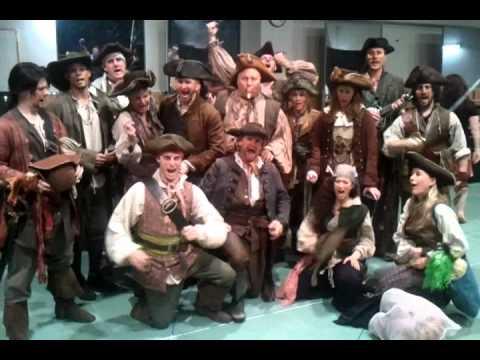 Pirates sing happy birthday