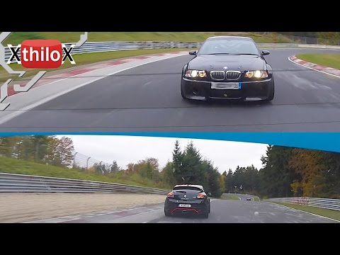 Seat Leon Cupra + BMW E46 M3 - M Gott chasing me on Nürburgring Nordschleife TF BTG