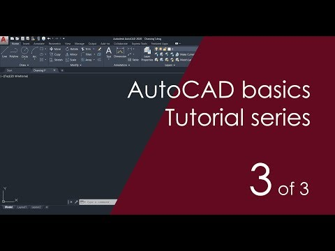AutoCAD Basic Tutorial For Beginners - Part 3 Of 3