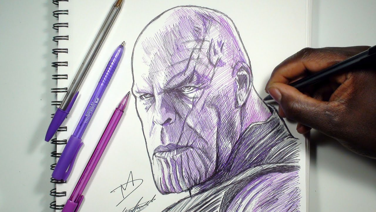 HOW TO DRAW THANOS - AVENGERS INFINITY WAR | SKETCH SUNDAY - YouTube