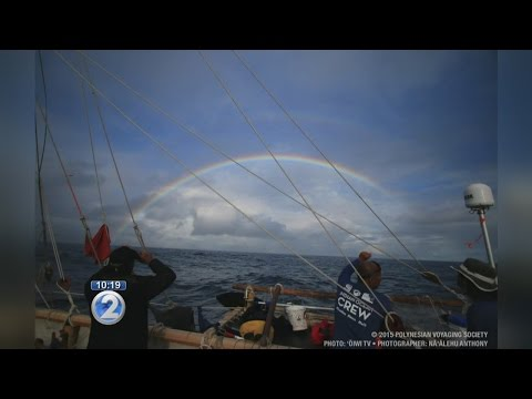 Hokulea and crew members safely reach Cocos Island amid rough weather