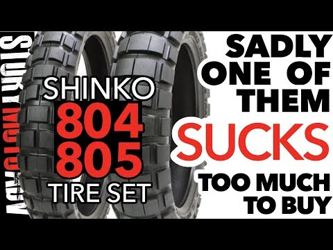 REVIEW: SHINKO 804 805 Dual Sport Tire Set - ONE OF THEM IS A NO GO