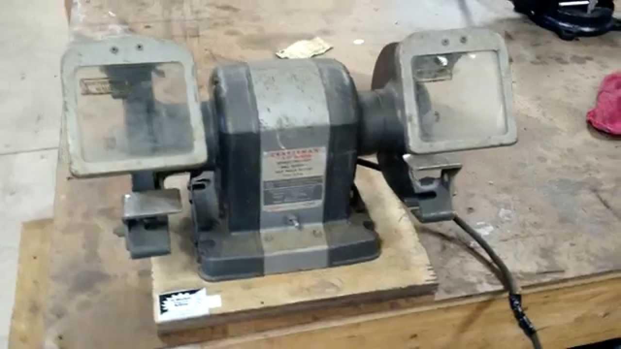 Vintage Craftsman 1 3hp Bench Grinder Youtube