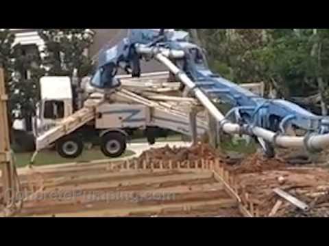Concrete Pump Accident Flips