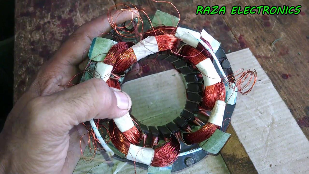 pedestal fan complete rewinding details in urdu hindi part 2 [ 1280 x 720 Pixel ]