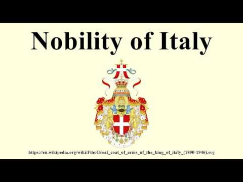 Nobility of Italy