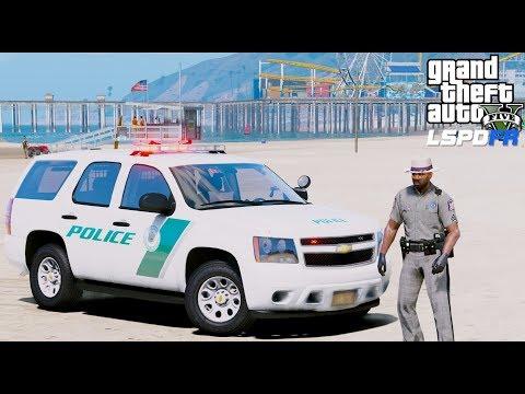GTA 5 LSPDFR Police Mod #613 New York State Park Police Chevy Tahoe Paroling Jones Beach