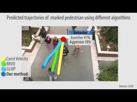 Realtime Pedestrian Behavior Learning for Path Prediction and Navigation