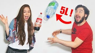 WATER BOTTLE FLIP CHALLENGE en COUPLE !! DAVID LAFARGE vs MISSJIRACHI !