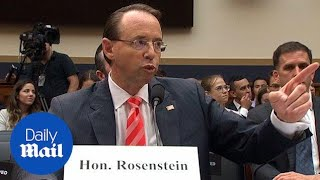 Furious Republicans spar with Rod Rosenstein during tense hearing