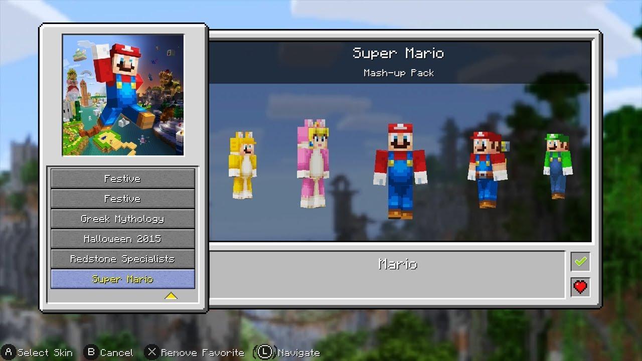 Minecraft: Nintendo Switch Edition - Super Mario Mash-Up (All Skins)