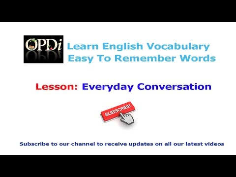 8. Everyday Conversation | Oxford picture dictionary 2nd edition | Learn english vocabulary