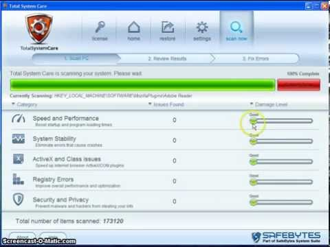 Total System Care Pro - Kill PC Errors, Speed Up Your Computer!