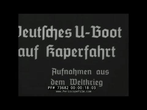 GERMAN U-BOATS DEPARTING FOR BATTLE / WORLD WAR I NEWSREEL 73682