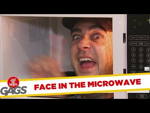 No Heating-Up, Sir - Hilarious Face In The Microwave Prank