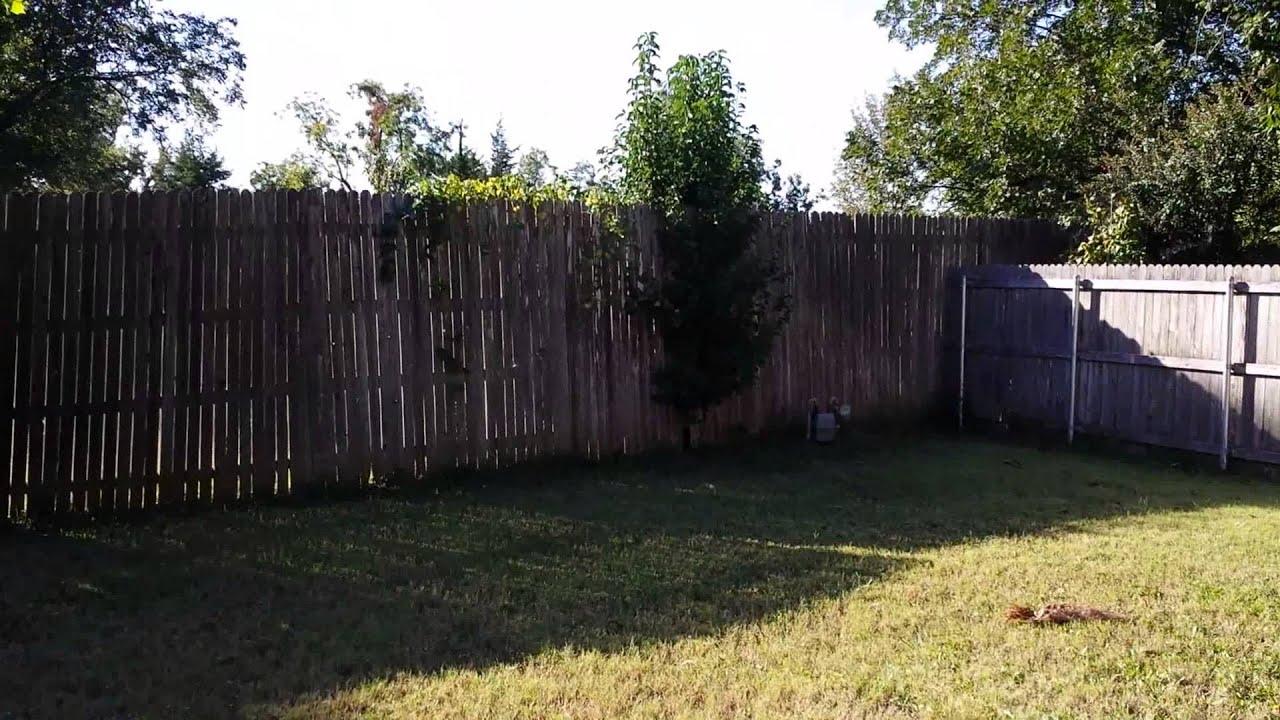 Landscape Installation In Broken Arrow OK   2: Back Yard Before