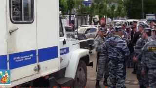 Полиция проводит жёсткое задержание защитников избитого кавказцами полицейского