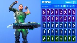 SQUAD LEADER SKIN SHOWCASE WITH ALL FORTNITE DANCES & EMOTES