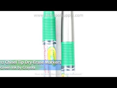 12-chisel-green-dry-erase-markers-by-crayola-98-9626-0-344