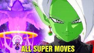 DRAGON BALL FIGHTER Z - ALL DRAMATIC FINISHERS AND SUPER MOVES (DLC Pack 1 & 2)