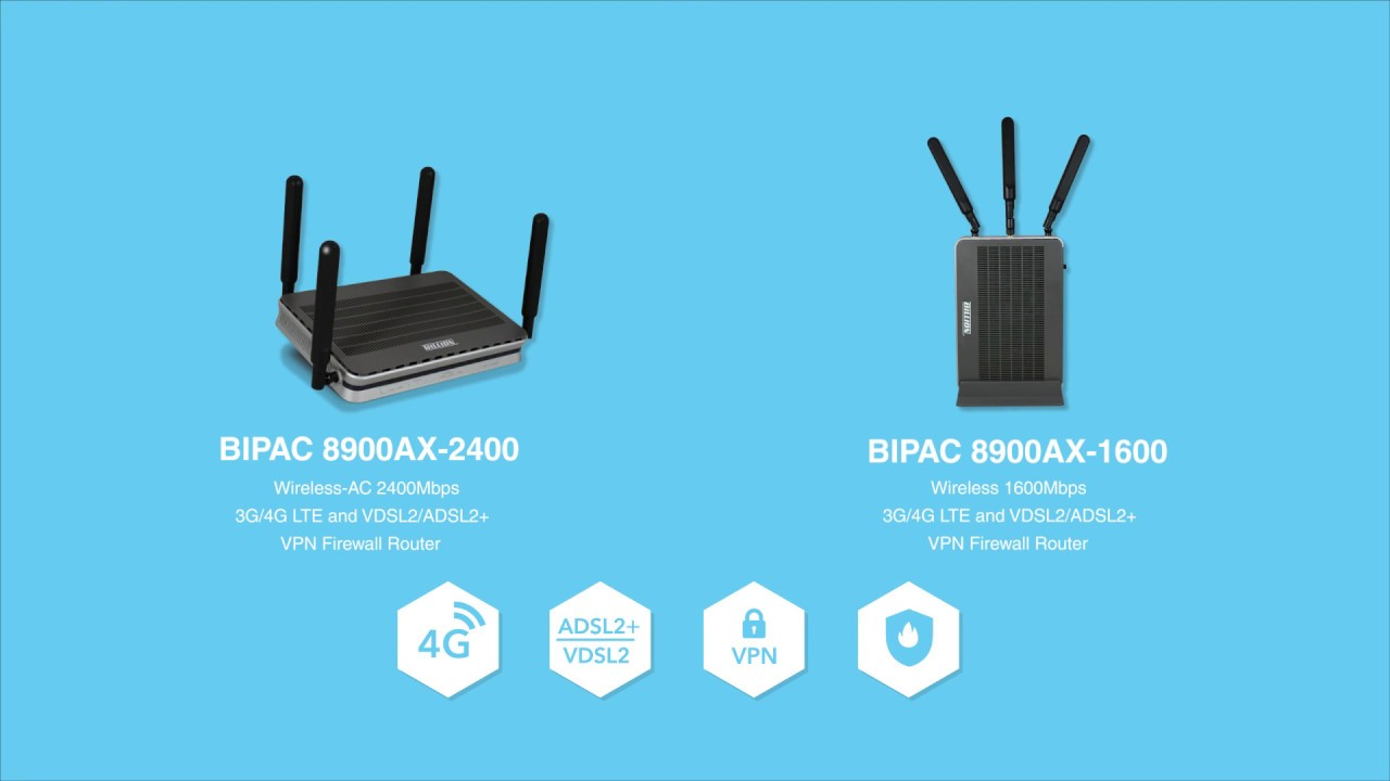 Billion 3g 4g Lte And Vdsl2 Adsl2 Vpn Firewall Router Bipac Wireless Diagram 8900ax Series