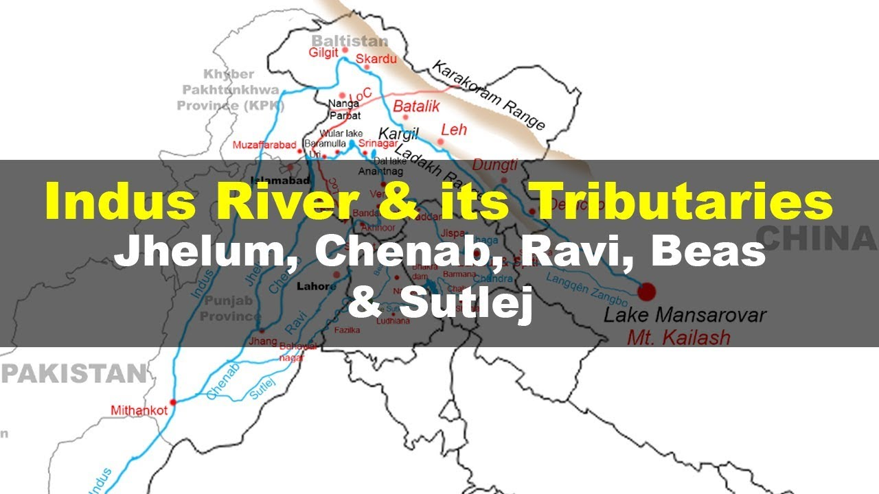 Indus river and its tributaries - Geography UPSC, IAS, NDA, CDS, SSC on mekong river location on world map, seine river location on world map, nile river location on world map, rhine river location on world map, alps 'location on world map, indus river located on a map, indus river basin map, yellow river location on world map, murray-darling river location on world map, niger river location on world map, amazon river location on world map, indus valley civilization location on world map, mississippi river location on world map, indus river on a world map, elbe river location on world map, zambezi river location on world map, indus river pakistan map, the indus river map, indus river system map, yangtze located on a map,