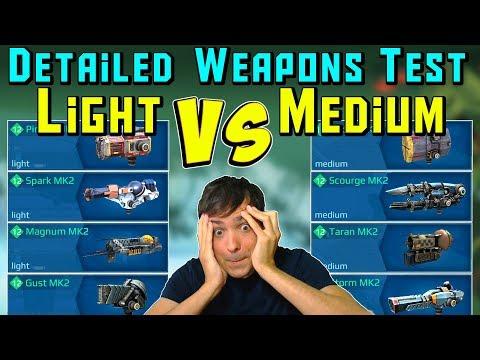 Light Vs Medium Weapons Exact Testing - How Much Better? War Robots WR
