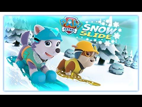 Paw Patrol - Snow Slide - Paw Patrol Games |