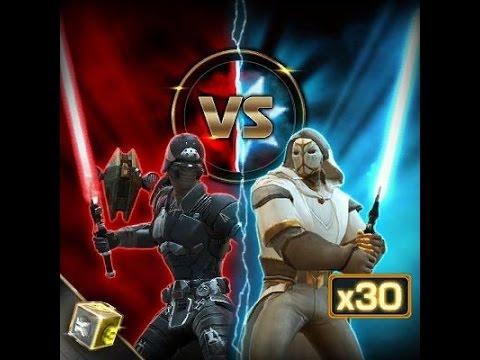 Swtor Opening 30x Dark vs Light Cartel Packs - YouTube