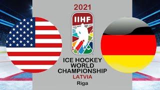 Хоккей США Германия Чемпионат мира по хоккею 2021 в Риге период 1