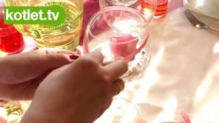 Cooking | Dekoracja na stół róża w kieliszku KOTLET.TV