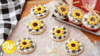 How to Make Royal Icing Sunflower Cookies | Wilton