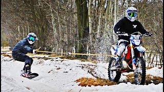 Dirtbike Pulls Snowboard - Good Or Bad Idea?