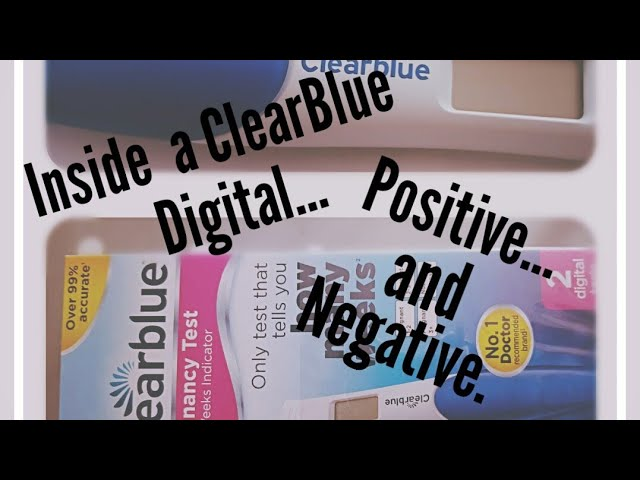 Inside A Negative And Positive Clearblue Digital Week Indicator