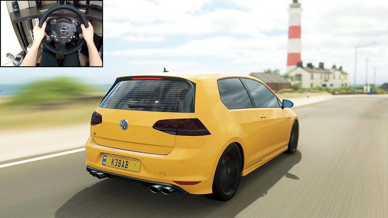 Volkswagen Golf R - Forza Horizon 4 (Steering Wheel + Shifter) Gameplay