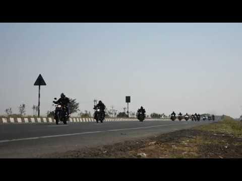 Harley Davidson Riders At Bardoli